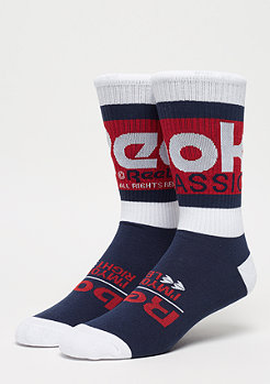 Reebok CL Graphic Crew Sock collegiate navy