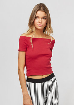 Urban Classics Off Shoulder Rib red