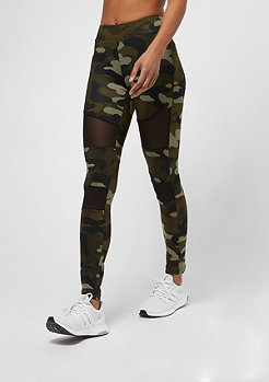 Urban Classics Camo Tech Mesh woodcamo/black