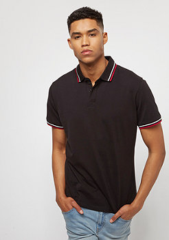 Urban Classics Duoble Stripe black/white/firered