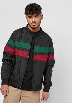 Urban Classics Nylon rayé noir/vert/rouge