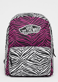 VANS Realm Backpack magenta haze/white zebra