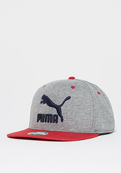 Puma LS Colour Block medium gray heather/red