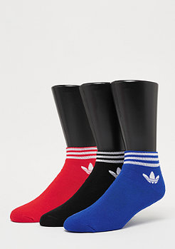 adidas Trefoil Ank Str 3P black/red/blue