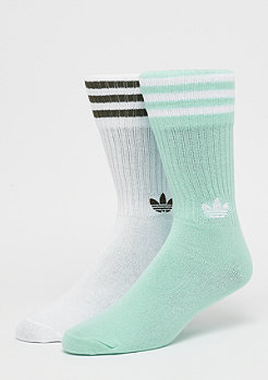 adidas Solid Crew 2PP clear mint/white/white/night cargo