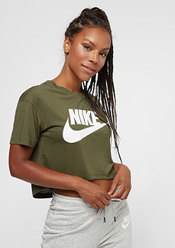 NIKE Essentials Crop olive canvas/white