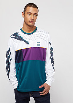 adidas Tennis white/tribe purple/real teal