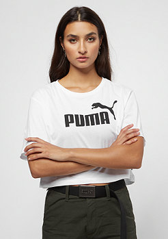 Puma Elevated Less Cropped Logo puma white