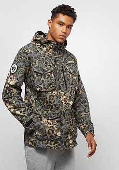 Converse Printed Cotton Utility Jacket dusky green