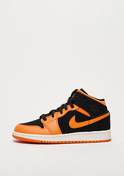 JORDAN Air Jordan 1 Mid black/orange peel-sail