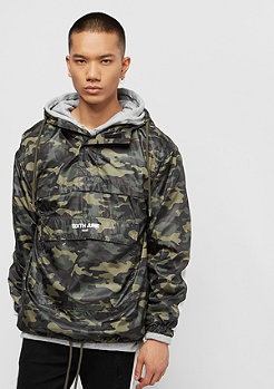 Sixth June Rain Jacket With Sleeves Band green camo/white