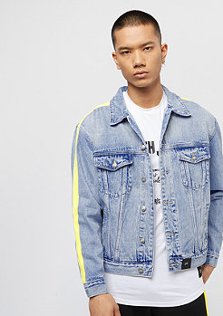 Sixth June Denim Jacket With Bands blue