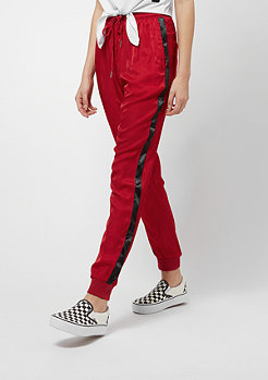 Sixth June Satin Pants With Sides White red