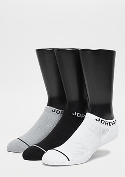 JORDAN No-Show 3PPK black/white/wolf grey