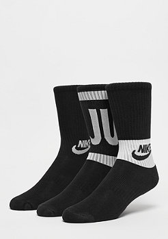 NIKE Kids Performance Cushioned Crew Training 3P black/white