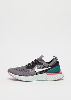 NIKE Running Epic React Flyknit (GS) gunsmoke/white-black-geode teal