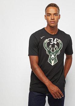 NIKE Basketball NBA Milwaukee Bucks Dry Gianni Antetokounmpo black