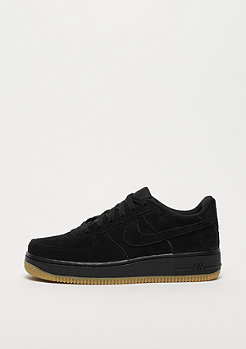 NIKE Air Force 1 Premium (GS) black/black-gum light brown