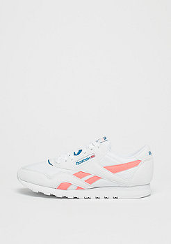 Reebok Classic Leather Nylon retro-white/digital pink/instince blue