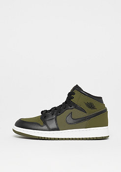 JORDAN Air Jordan 1 Mid (GS) olive canvas/black-white