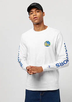 New Era NBA LS Tee Team APP Golden State Warriors white