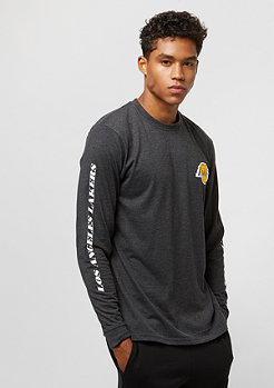 New Era LS Tee Team APP Los Angeles Lakers heather grey