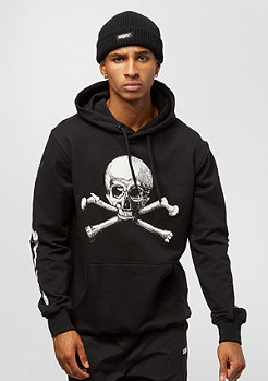 Criminal Damage Hood Skull Crossbones black/white