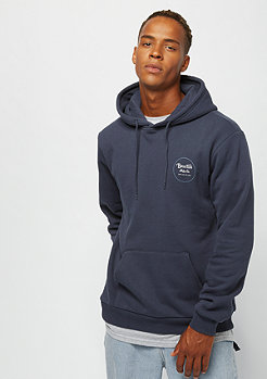 Brixton Wheeler Hood Fleece washed navy