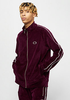 Criminal Damage CD Track Top Rep burgundy/white