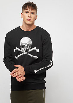 Criminal Damage Sweat Skull Crossbones black/white