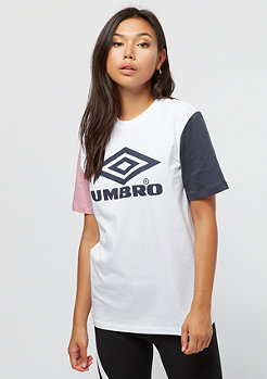 Umbro Umbro wmn Projects Tricol Tee white/blush/blue nights