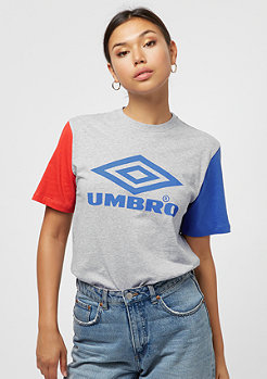 Umbro Umbro wmn Projects Tricol Tee grey marl/lava/tw royal