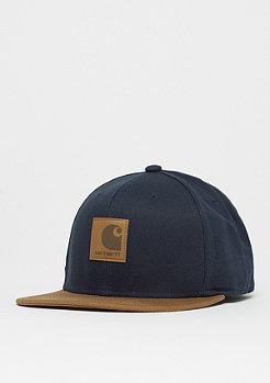 Carhartt WIP Logo Bi-Colored dark navy/hamilton brown