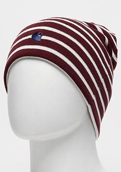 Carhartt WIP Robie Beanie Robie Stripe mulberry/snow/metro blue