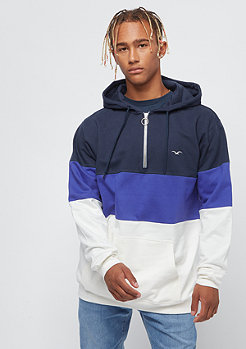 Cleptomanicx Deck Stripe Hooded dark navy
