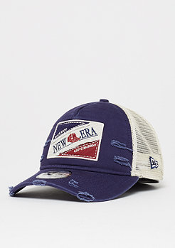 New Era 9Forty Tri Block Patch Trucker navy