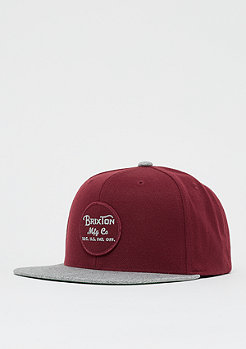 Brixton Wheeler Snap burgundy/burgundy/heather grey