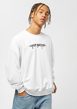 Cheap Monday Goal Sweat Hacker Logo white