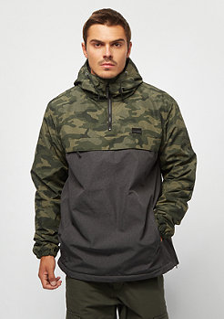 Iriedaily Gridstop Halfzip camouflage/olive