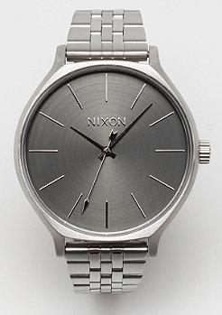 Nixon Clique all silver gray
