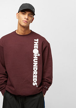 The Hundreds Bar None Crewneck maroon