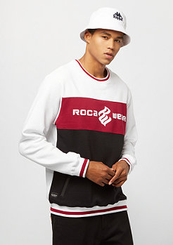 Rocawear Color Block Crewneck white