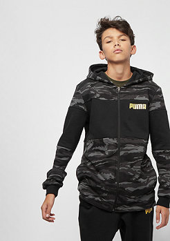 Puma Junior Dark Camo Bling Takedown AOP cotton black/gold