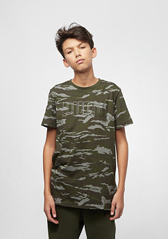 Puma Junior Dark Camo Bling Takedown AOP Logo forest night