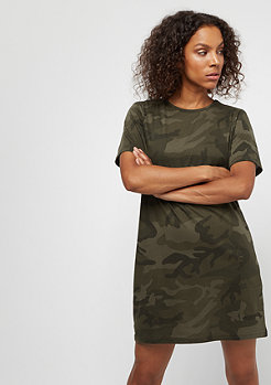 Urban Classics Ladies Camo Tee Dress olive camo