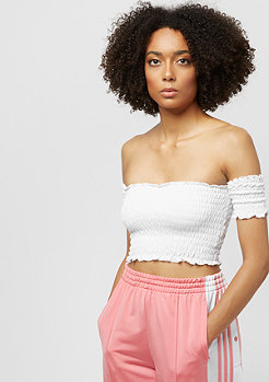 Urban Classics Ladies Cropped Cold Shoulder Smoke Top whit