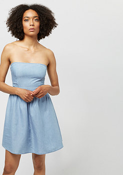 Urban Classics Ladies Denim Bandeau Dress raw  blue
