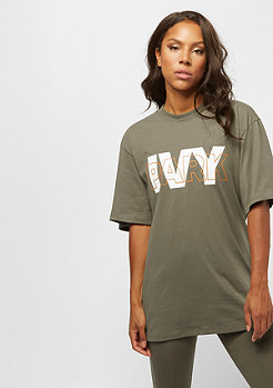 IVY PARK Sequin Brush Logo Crop Tee grey marl