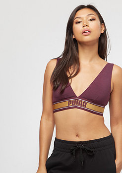 Puma V-Neck Padded Top 10 bordeaux/gold