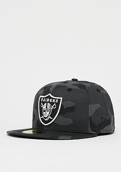 New Era 59Fifty NFL Oakland Raiders Essential Camo midnite camo